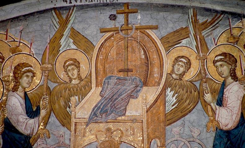 Byzantine Angels before Throne of God