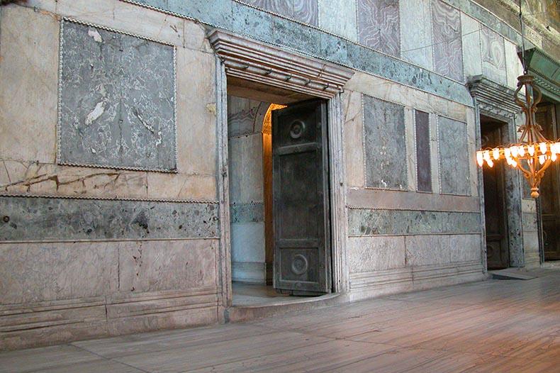 Narthex revetment in Hagia Sophia
