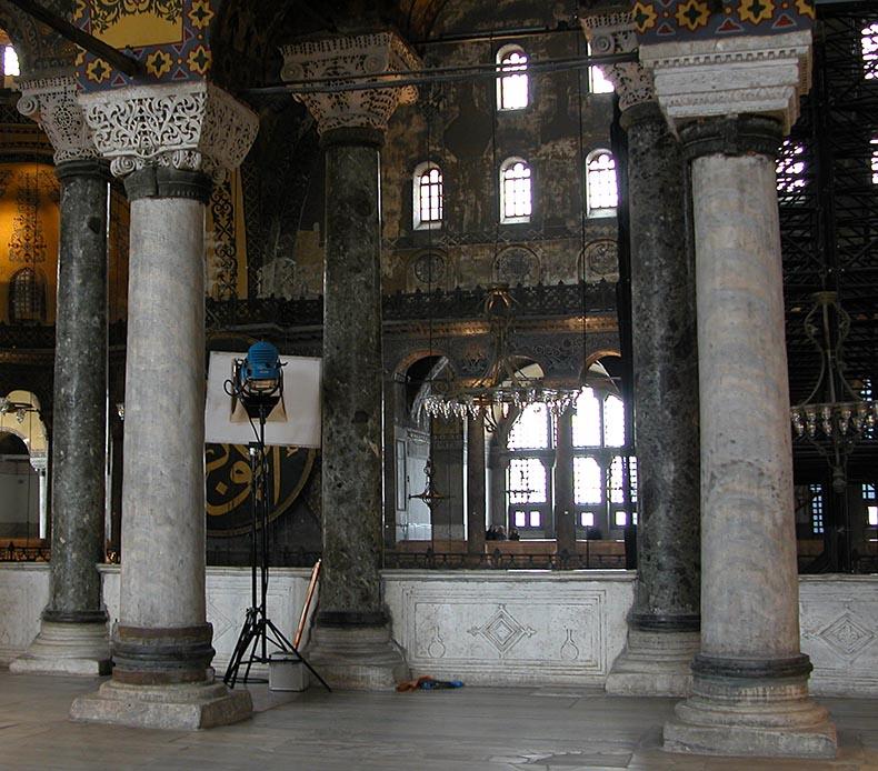 Two Proconnesian Columns in Hagia Sophia