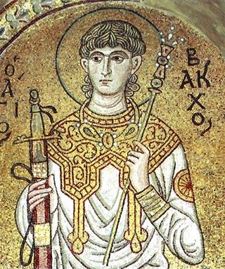 Saint Bacchus from Daphni Monastery