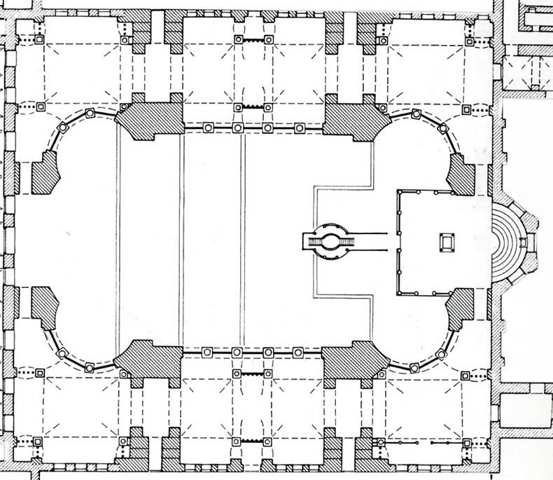 Big Plan Nave Hagia Sophia