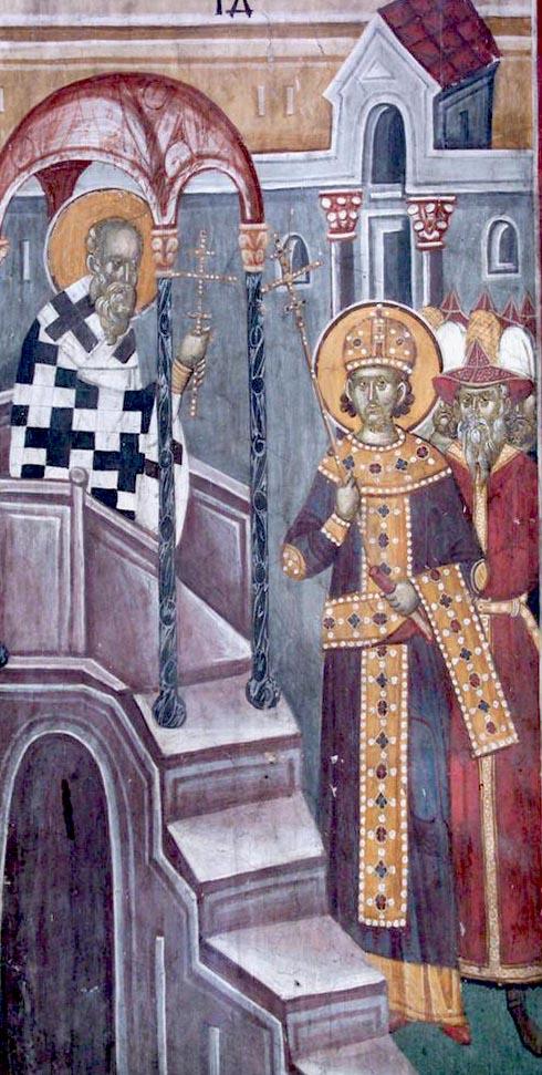 Byzantine Emperor in Hagia Sophia Ambo