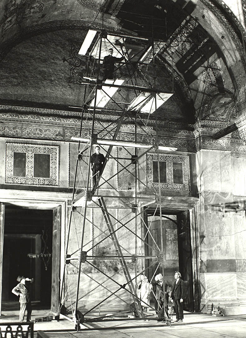 Scaffold in Hagia Sophia