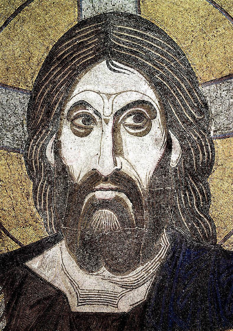 Mosaic of Christ Pantokrator in Daphni Church