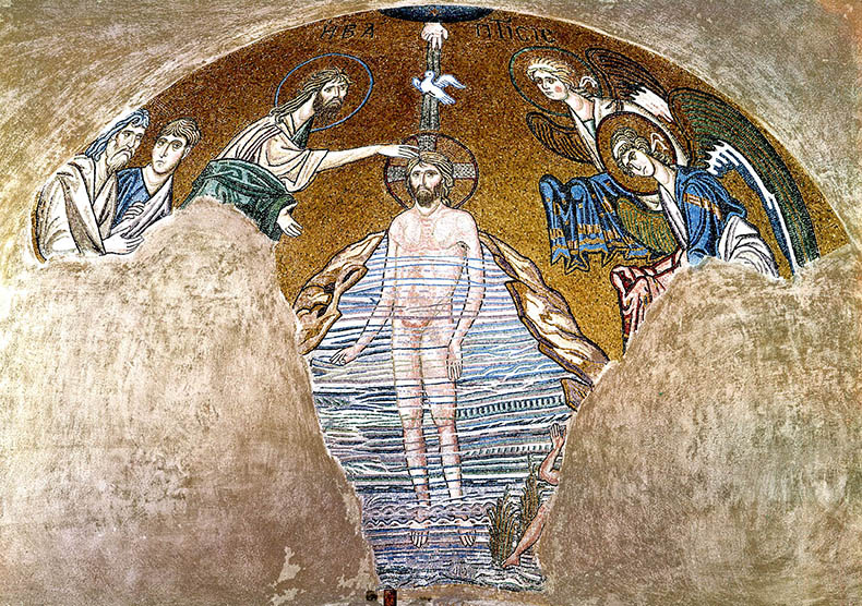 The Baptism of Christ - Daphni Church