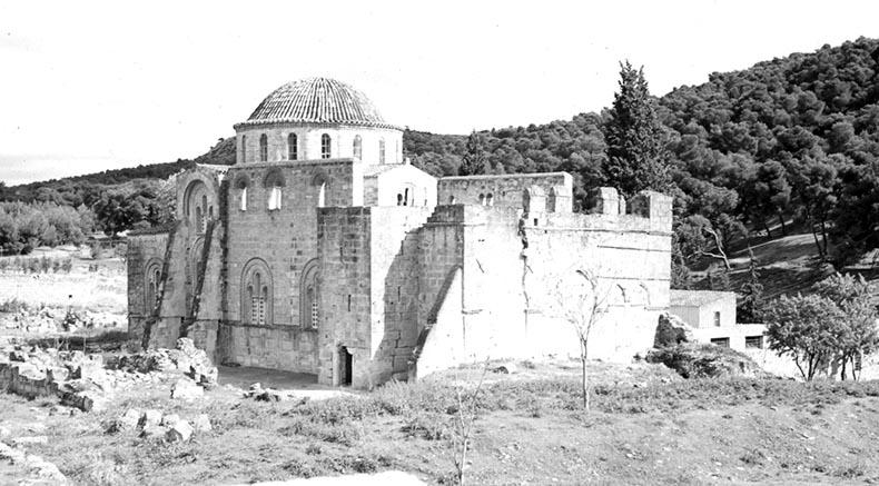 Daphni Byzantine Monastery near Athens