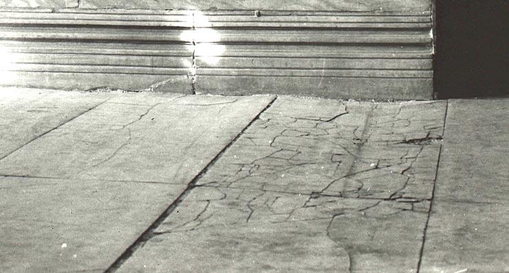 marble floor in front of the Deesis in Hagia Sophia