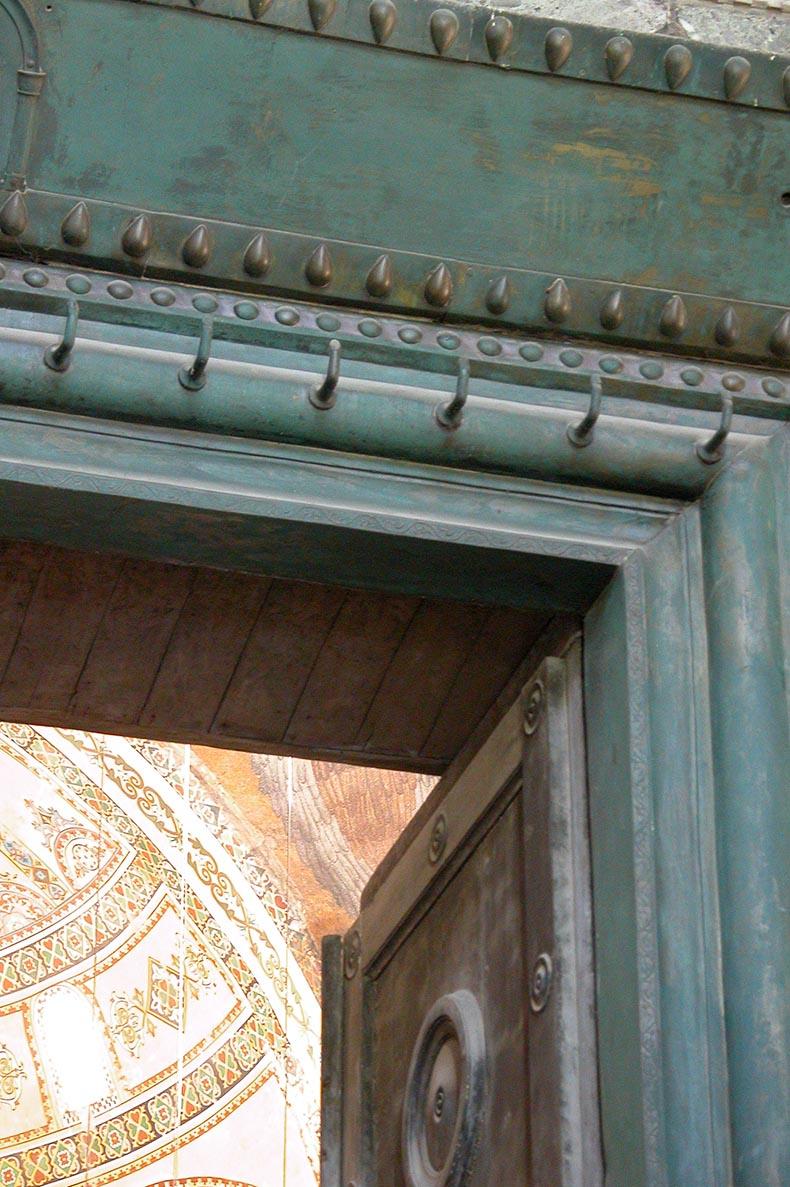 Bronze Door Frame - finger hooks - Hagia Sophia