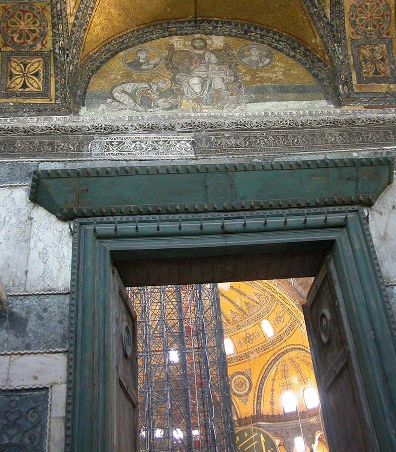 Βασιλική πόρτα - Ασημένια πύλη - στην Αγία Σοφία