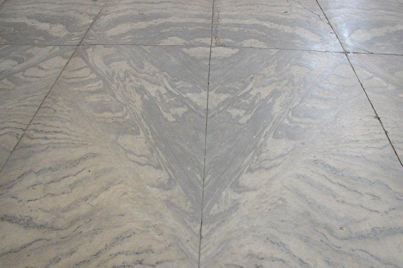 Marble floor in Hagia Sophia