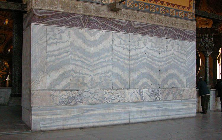 Left wall - West Gallery - Hagia Sophia - revetment