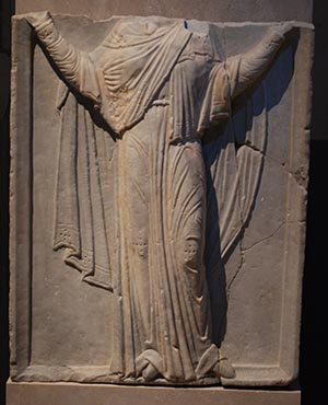 Byzantine Marble relief Virgin