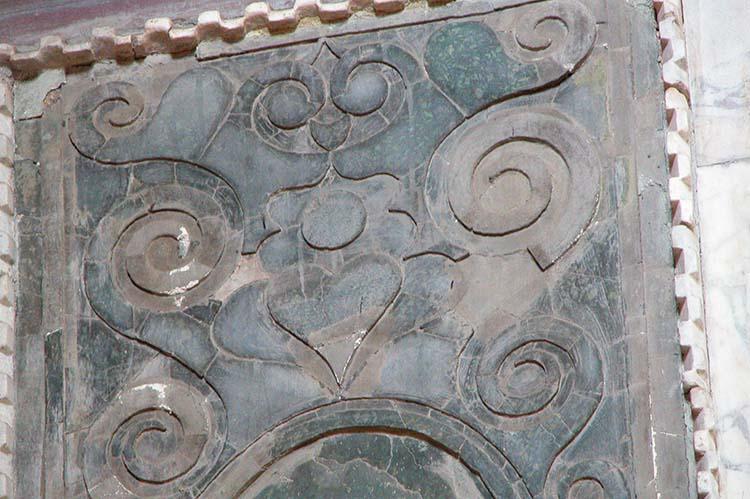 Close-up Green Porphyry Panel in Hagia Sophia
