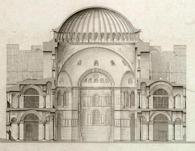 Diagram of Hagia Sophia