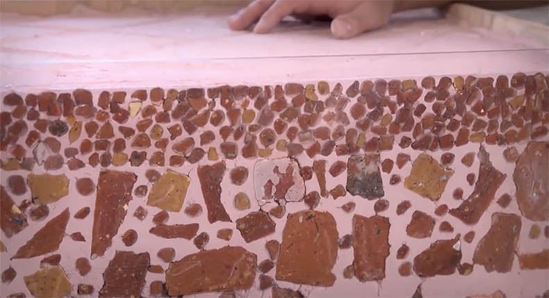layers of plaster for Byzantine mosaics
