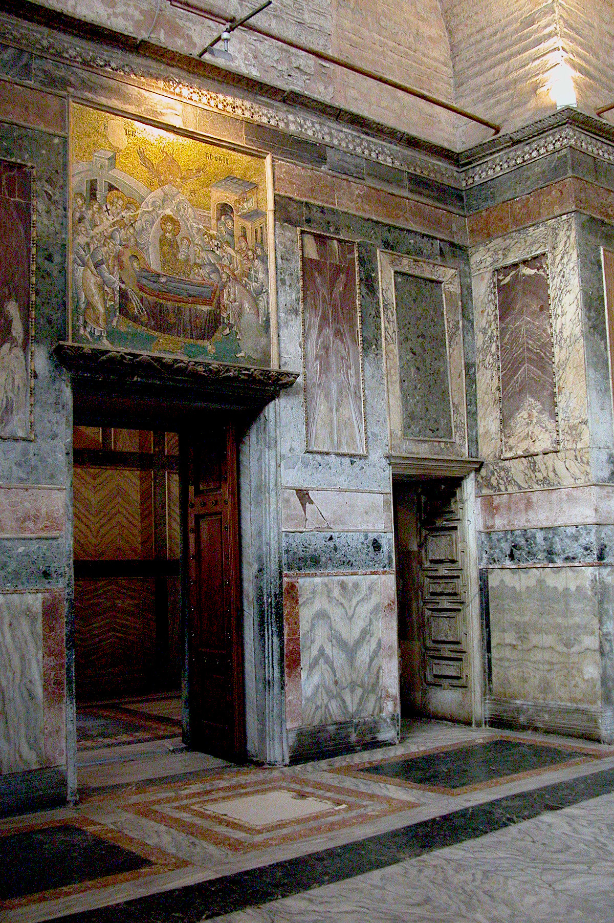 Mosaics in Byzantine Church of the Chora