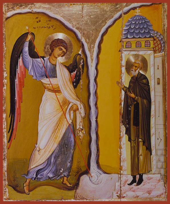 Icon from Sinai - Miracle at Chonai