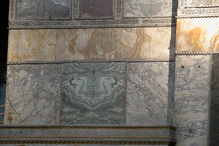 Bands of Golden Onyx in Hagia Sophia