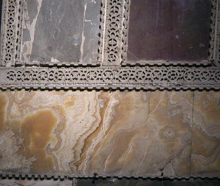 Close-up Band of Golden Onyx in Hagia Sophia