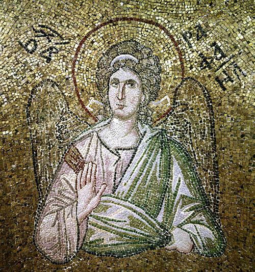 angel mosaic in vault of Pammakaristos