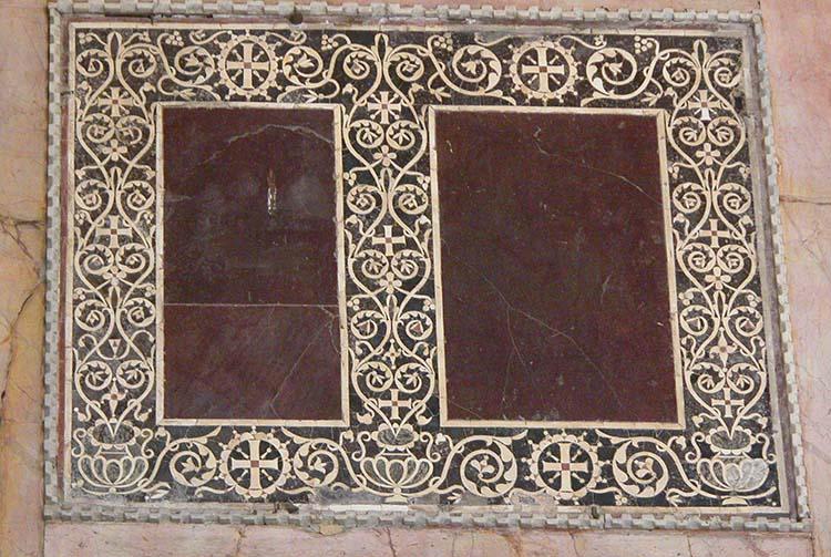 Porphyry Inlaid Panels In Hagia Sophia