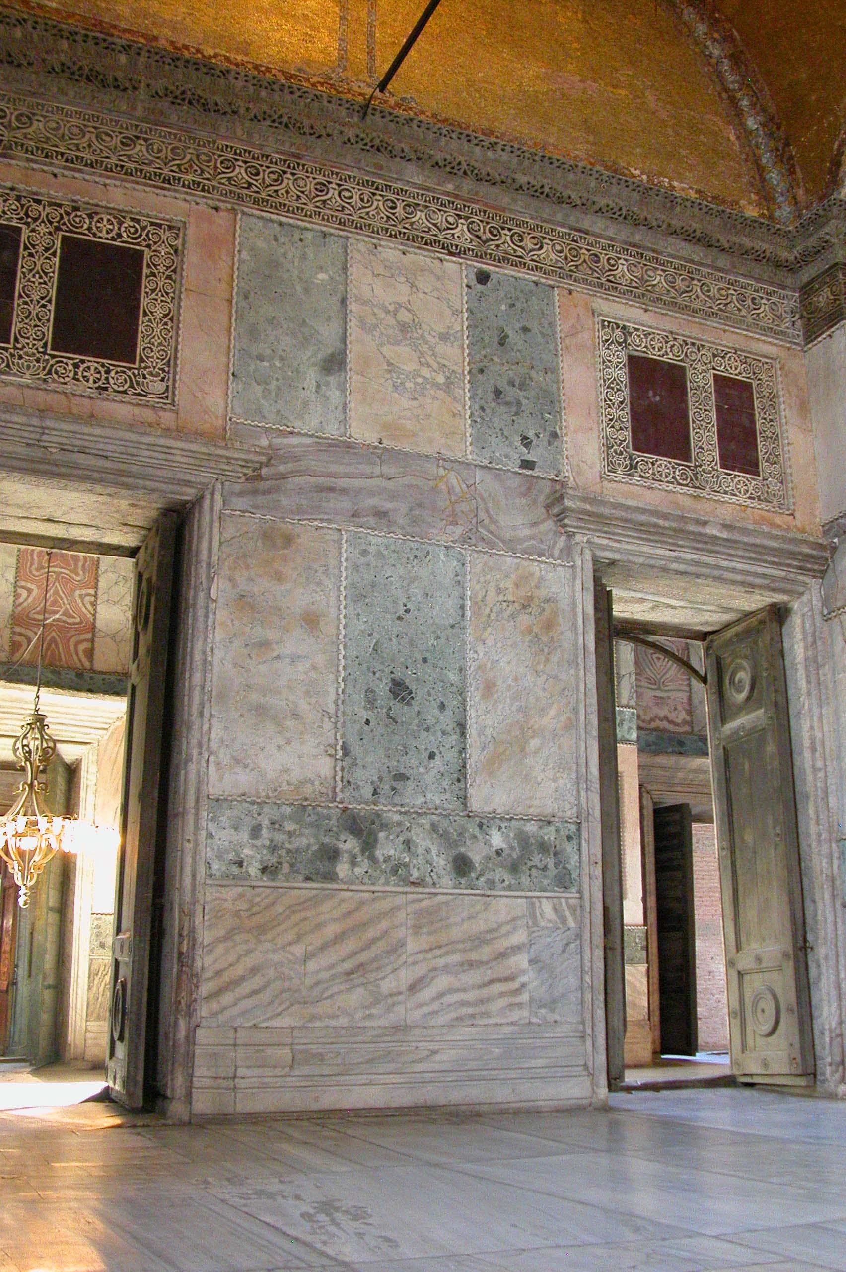 Marble Panel in Hagia Sophia