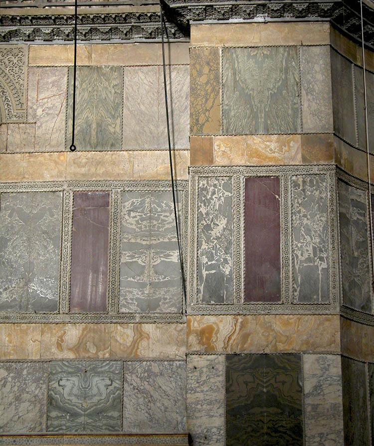 Marble revetment in the nave of Hagia Sophia