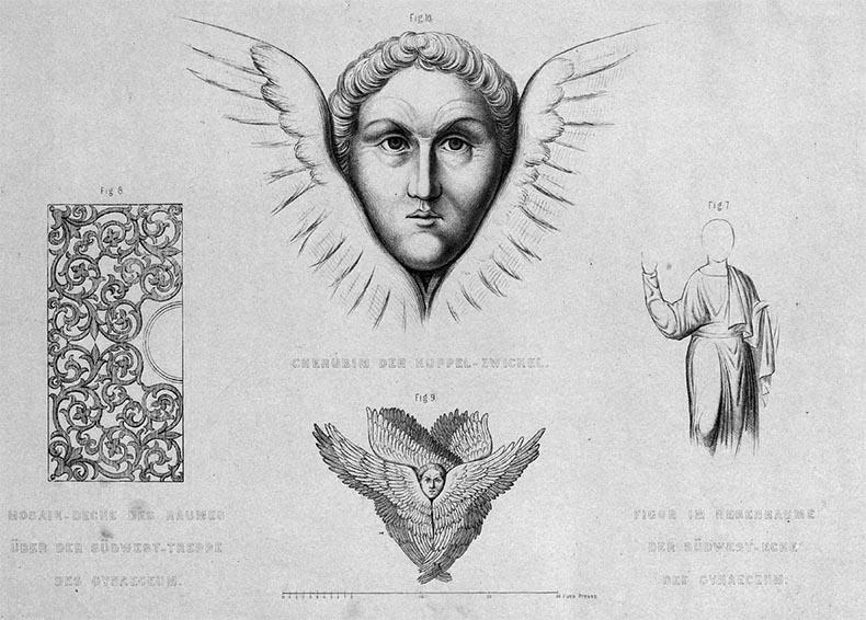 Salzenberg drawing Hagia Sophia Seraphim