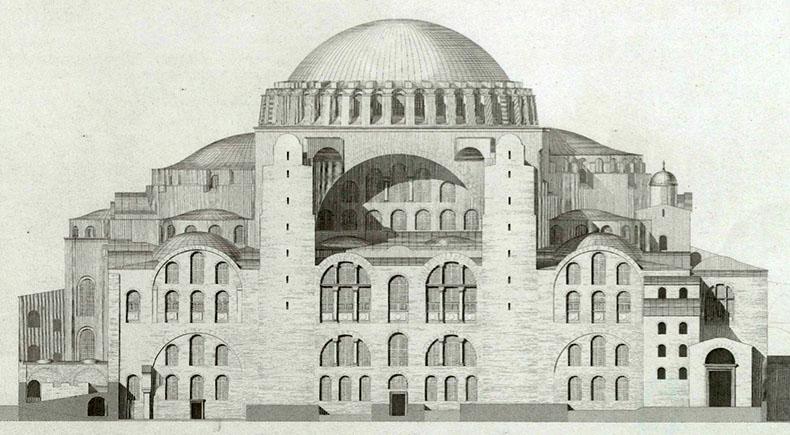 North Side of Hagia Sophia