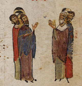 Miniature from Theodore Psalter