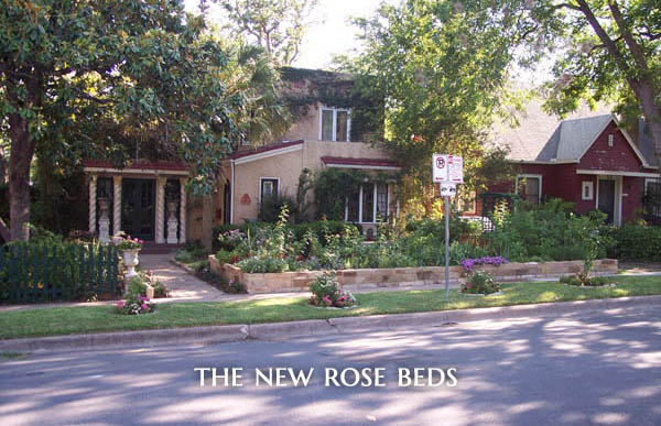 New Rosebeds on Laurel Lane in Austin