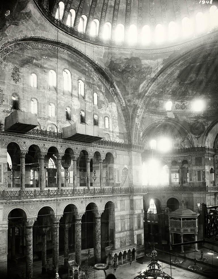 North Side of nave Hagia Sophia 1935