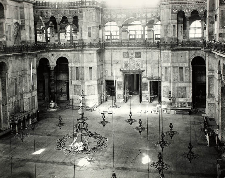 West side nave - Hagia Sophia in 1935