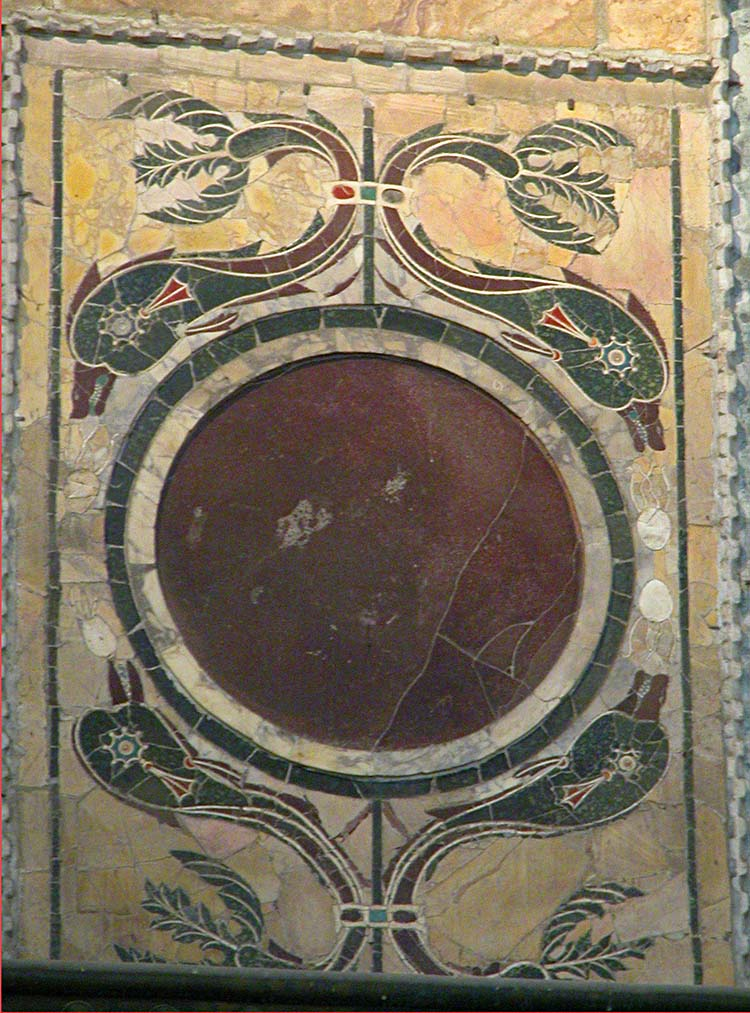Inlaid Dolphin Marble Panel from Hagia Sophia