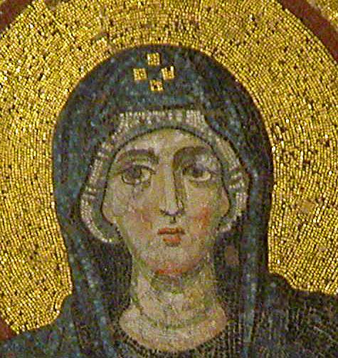 Head of the Virgin in Hagia Sophia