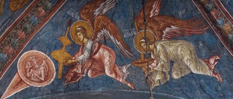 Angels - 13th century Byzantine Fresco