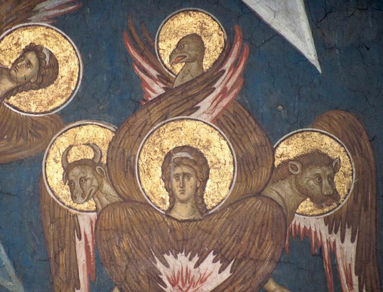 Byzantine Angel with Evangelist symbols