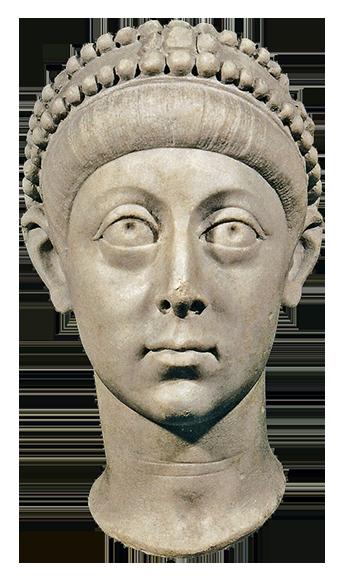 Byzantine Art - sculpture of Emperor Arcadius