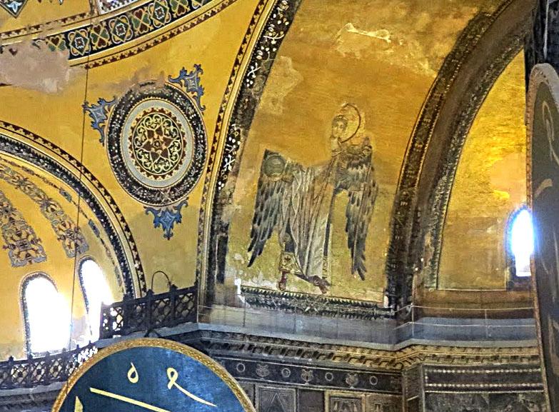 Angel from the Bema in Hagia Sophia