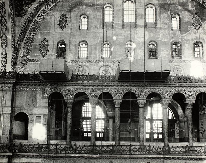 View across nave Hagia Sophia