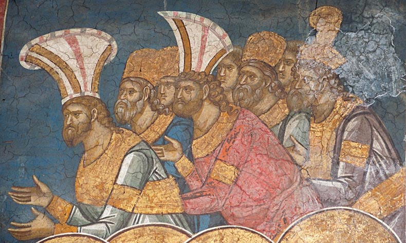 Byzantines wearing fancy hats and turbans