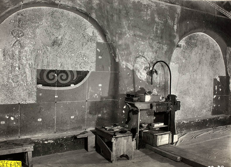 restporers working in Hagia Sophia