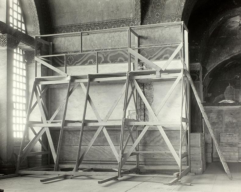 Deesis mosaic location ih Hagia Sophia