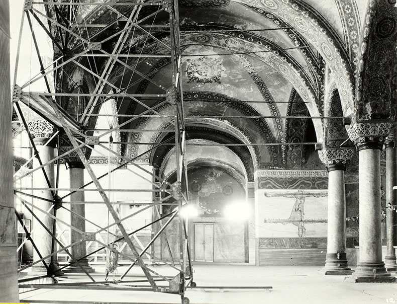 Working the the Narthex of Hagia Sophia