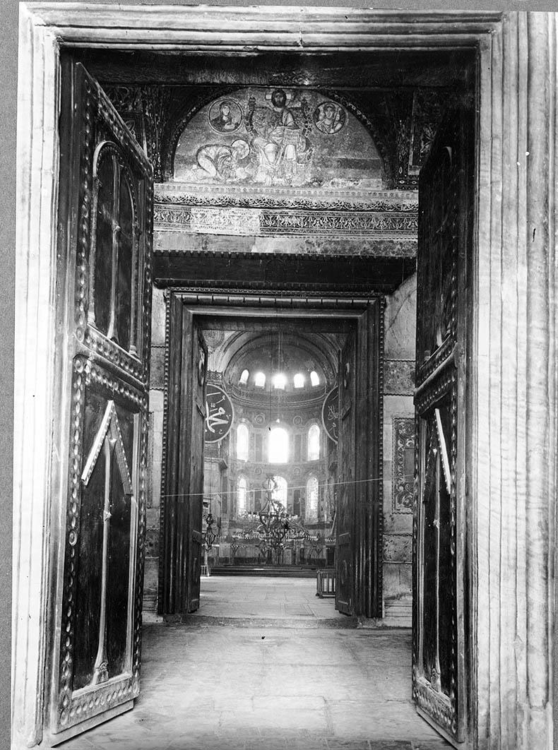 View through Royal Doors Hagia Sophia
