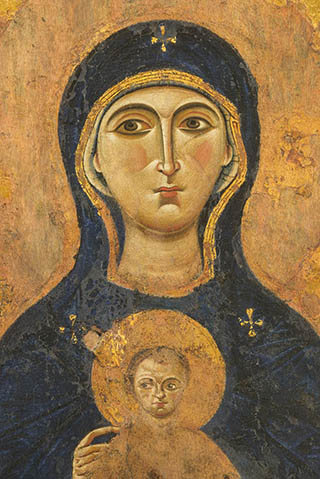 the icon of the Nicopeia Mother of God