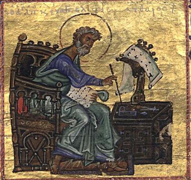 Big portrait of evangelist matthew
