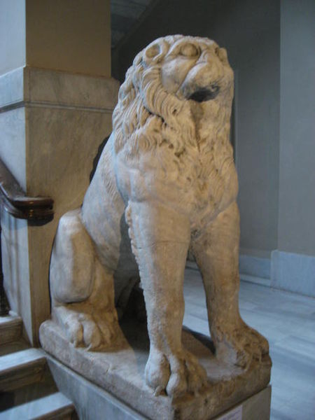 Lion from the facade of the Boukoleon Palace