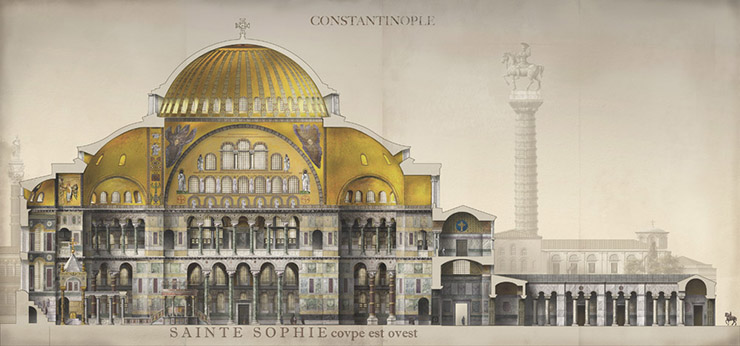 Hagia Sophia and the Column of Justinian