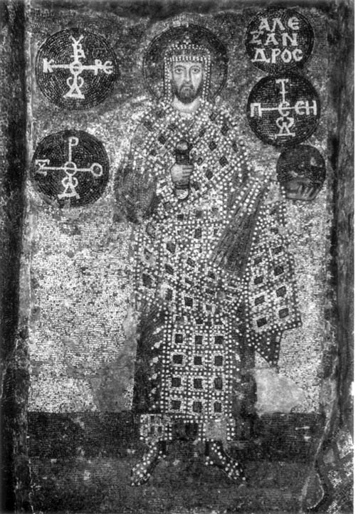 Mosaic of the Emperor Alexander in Hagia Sophia